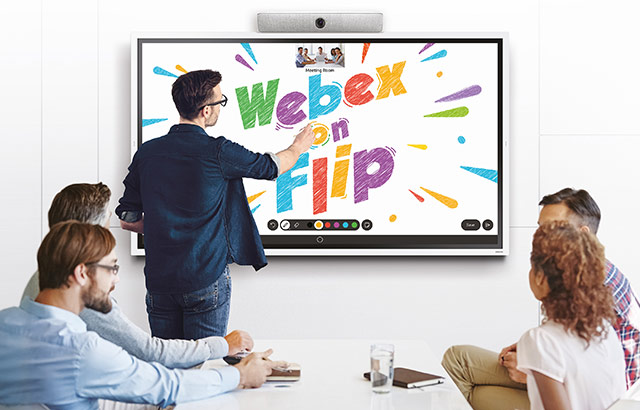 Samsung con Cisco per Webex on Flip